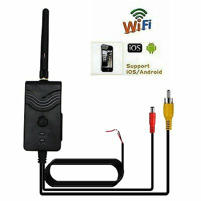 WiFi Transmitter Reverse Gear Car Backup Camera for iPhone iPad Android Phone