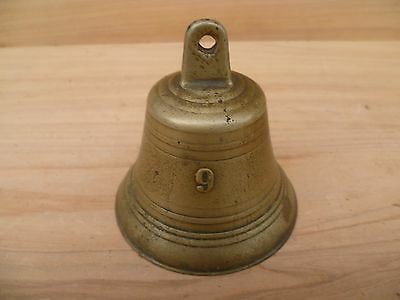 Vintage Old Brass Sized Bell, Antique Bell (F616)