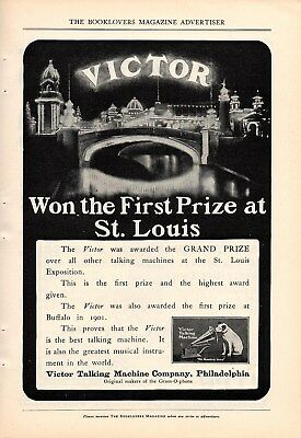 1904 Victor Phonograph Ad-St. Louis Worlds Fair 1St Prize