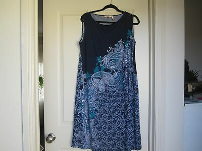 Ladies Size 18 Navy/floral Dress New