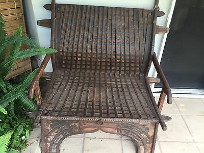 Antique Indian Palanquin Furniture / Chair