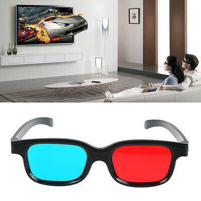 Red Blue 3D Glasses For Dimensional Anaglyph Movie Game DVD Fashional New