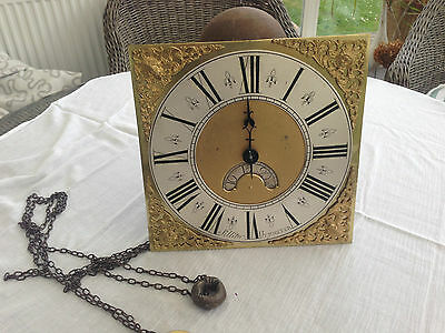 Brass Face Single Finger 18th CenturyLong Case Clock Works