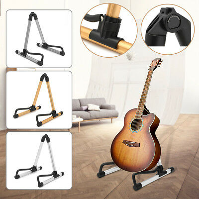 Non Slip Folding A-Frame Electric Acoustic Bass Guitar Floor Stand Holder Rack