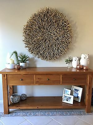 Driftwood Round Large Wall Hanging Art Indoor Natural 1m