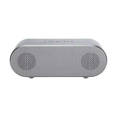 Bluetooth Portable Speaker Wireless Rechargeable Hands Free Music Quality Silver