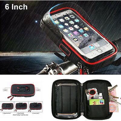 Waterproof Motorcycle Handlebar Sunshade Holder Mount Wallet Case For Phone +GPS