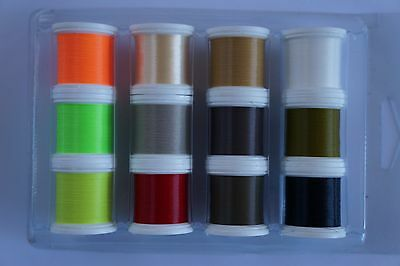 "Fly Tying, ""synton' Tying Thread, 12 Colours"