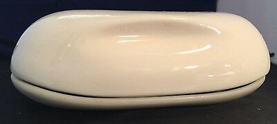 Russel Wright Iroquois Casual China White 1/2 lb Pound Covered Butter & Relish