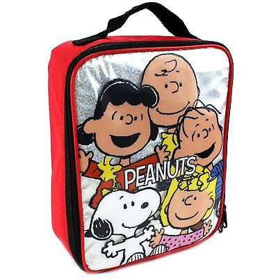 Peanuts Snoopy Soft Lunch Box Peanuts Gang Red