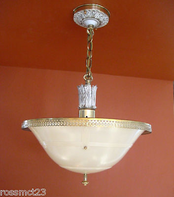 Vintage Lighting 1930s Even Glow chandelier by Chase Brass