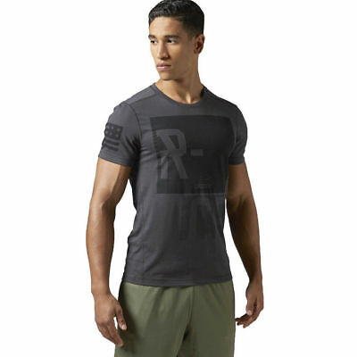 Mens Reebok CrossFit Blend T-shirt V1 Training CrossFit Running Wicking Tee