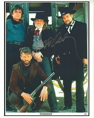 WILLIE NELSON hand-signed STAGECOACH 8x10 lifetime coa JOHNNY CASH WESTERN CAST