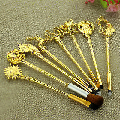 8pc Game of Thrones Style Makeup Brush Set