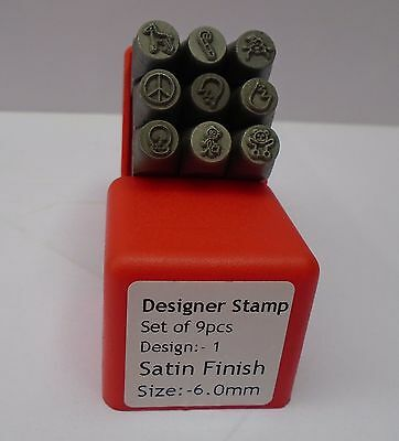 Jewellers Metal Designer Punch Set Metal Stamps Jewellery Craft Sets of 9