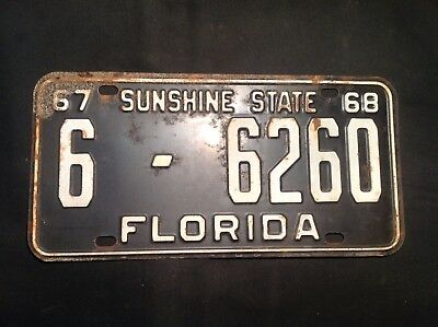 Florida License Plate 1968