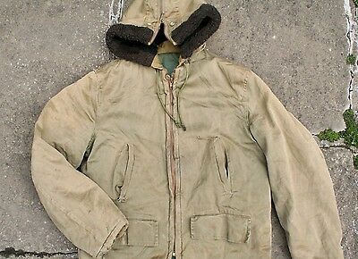VTG 50s 60s USAAF CIVILIAN B-9 HOODED FLIGHT PARKA JACKET B-11 CHILDS KIDS M/L