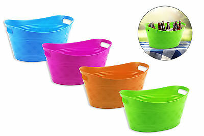 1 x 6.4L Plastic Party BBQ Summer Party Drinks Ice Bucket Bowl NEW