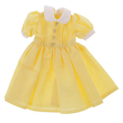Fashion Doll Yellow Summer Dress for 12'' Neo Blythe Dolls Clothes Accessory