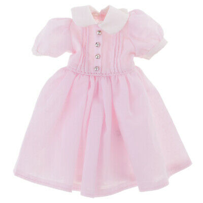 Fashion Doll Pink Summer Dress for 12'' Neo Blythe Dolls Clothes Accessory
