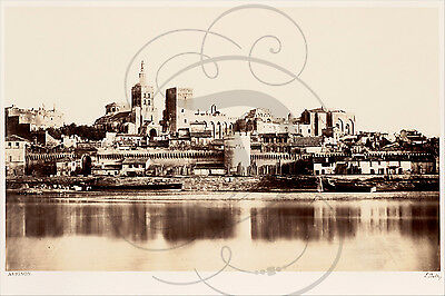 Repro Photo Ancienne Sepia Vers 1860 Avignon Tour Eglise Batiments Anciens