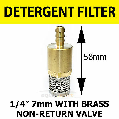 1/4 7 mm CHEMICAL FILTER with Non Return Valve for Pressure Washer