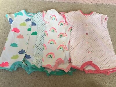 Next Baby Rompers X 4 Up To 3 Months
