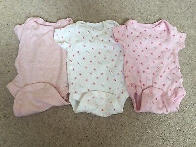 Next Baby Vests X 3 Up To 3 Months