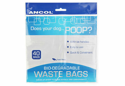 Ancol Dog Poop Bio-degradable waste bags pack of 40
