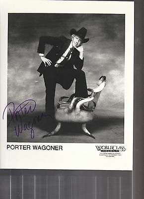 Porter Wagoner Signed Photo Coa