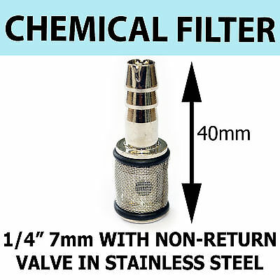 PRESSURE WASHER SOAP FILTER 7mm with Non Return Valve