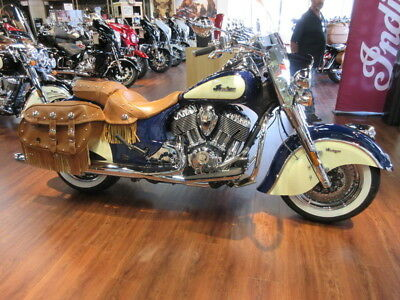2017 Indian Chief® Vintage Springfield Blue Over Ivory Cream  2017 Indian Motorcycle® Chief® Vintage Springfield Blue Over Ivory Cream