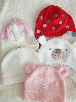 Baby girl 5 hats bundle