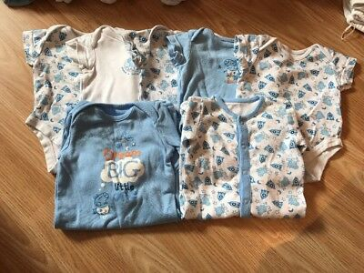 Baby Boy Peppa Pig Bundle Blue Baby Grows Vests Up To 3 Months