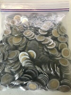 Mexico 1 Peso Lot of Bimetallic Coins Unsearched - 636 Coins