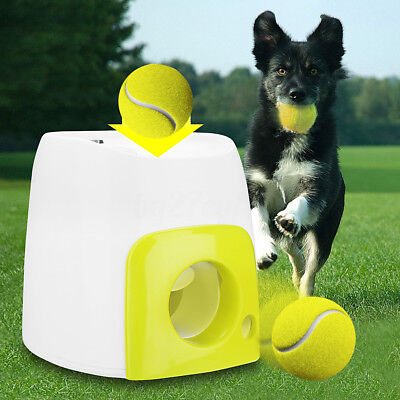 Fly Ball Dog Training Fetch Tennis Ball Launcher Machine Thrower Toy Interactive
