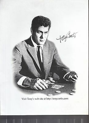 Tony Curtis Signed Photo Coa