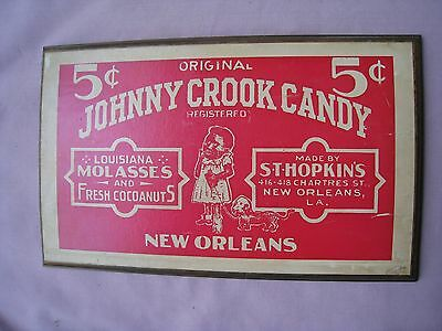 New Orleans Candy Sign......Wood Backing....Bright Red....PRICE REDUCED TO SELL