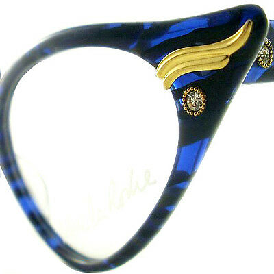 Vintage Cat Eye Glasses Eyeglasses Sunglasses New Frame Eyewear Blue And Black