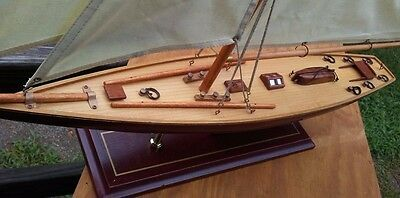 Large wooden sail Boat Model pre-owend