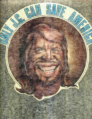 ONLY J.C. CAN SAVE AMERICA (CARTER) - iron on t shirt transfer vintage 70s NOS