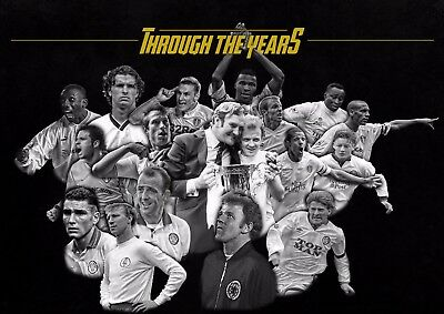 LEEDS UNITED POSTER PHOTO PRINT WALL ART 2017 Ft. LEEDS' GREATEST EVER PLAYERS