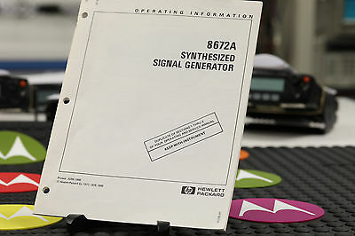 HP 8672A Signal Generator Operating Information Manual