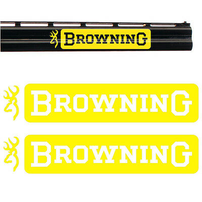 2x BROWNING Vinyl Decal Sticker. 3 sizes and 10 colours to choose from