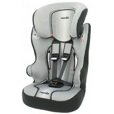 Nania Racer High Back Booster Carseat 1-10yrs Pop Black