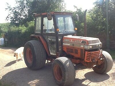 Kubota l4150 compact tractor with loader backs