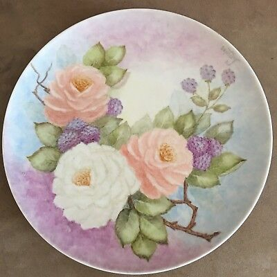 Beautiful Hand Drawn Plate Of Flowers