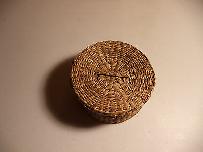 Vintage CHINESE WICKER BASKET!!