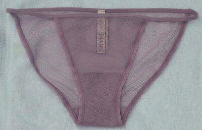 Victoria's Secret String Bikini Purple Plum Lace Panties Small NWT