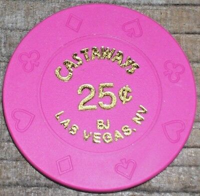 .25 Fractional Gaming Chip From Castaways Casino, Las Vegas 2000-2004